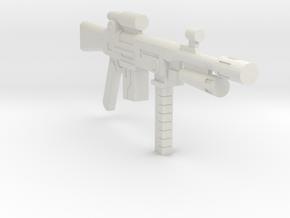1/18 assault rifle grenade launcher in White Strong & Flexible