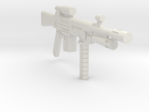 1/18 assault rifle grenade launcher in White Natural Versatile Plastic