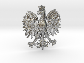 Polish Eagle Pendant in Polished Silver
