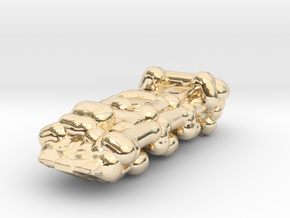 Military Truck in 14K Yellow Gold