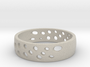 Cheese Ring Size 8 (18) in Natural Sandstone