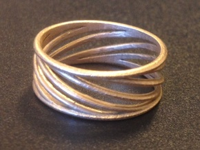 Ring Twist v1 in Natural Bronze