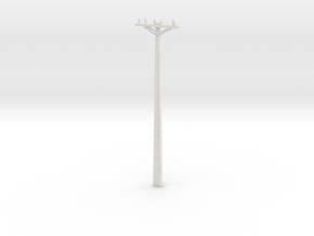 Concrete Powerline 01. Scale 1:24 in White Natural Versatile Plastic