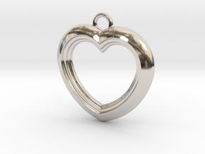 Cascading Heart Pendant in Platinum