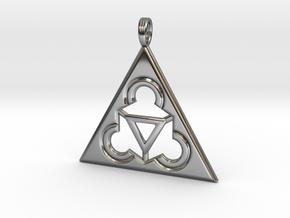 TRINITY RINGS (pendant) in Premium Silver