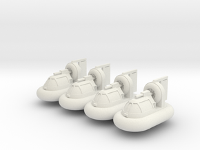 Bayou Master Hovercraft in White Natural Versatile Plastic