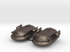Maxmillian Hover Transport  in Polished Bronzed Silver Steel