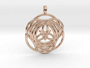 MYSTICAL LOTUS in 14k Rose Gold Plated Brass