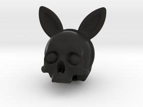 Bunnyears Skull - Halloween in Black Natural Versatile Plastic