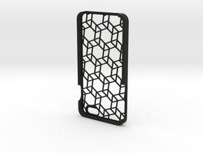 iPhone 6 Plus geometric case in Black Natural Versatile Plastic