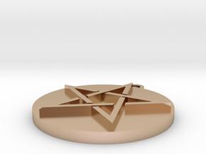 Pentagram Pendant in 14k Rose Gold Plated Brass