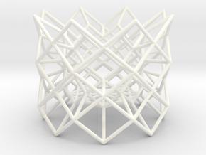 "Tea light Holder ""Structure"" in White Processed Versatile Plastic"
