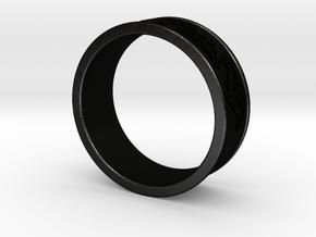 Decorative Ring 2 in Matte Black Steel