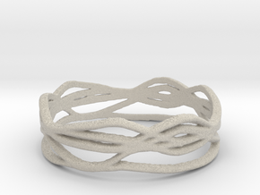 Ring Design 01 Ring Size 8.5 in Natural Sandstone