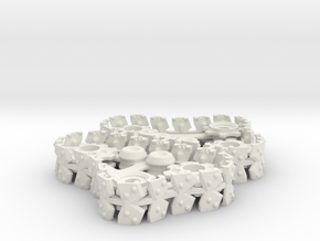 Steam Gargant Style Twin Set Tracks in White Natural Versatile Plastic