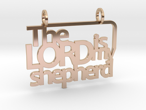 Psalm 23 in 14k Rose Gold Plated Brass