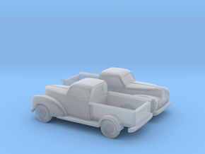 1/160 2X 1940 Willys Overland Half Ton Truck in Smooth Fine Detail Plastic
