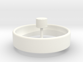 Spinning Top Single Arm in White Processed Versatile Plastic