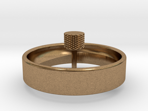 Spinning Top Single Arm in Natural Brass