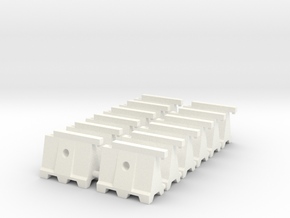 Barricade 02. HO Scale (1:87) in White Processed Versatile Plastic