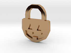 Halloween Pumpkin - Necklace in Polished Brass