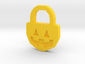 Halloween Pumpkin - Necklace in Yellow Processed Versatile Plastic