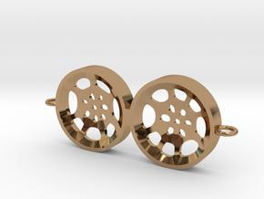 """Double Tenor """"void"""" steelpan bracelet/charm in Polished Brass"""