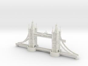 London Bridge 3d Printing in White Natural Versatile Plastic
