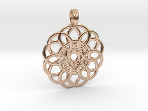 WELLSPRING in 14k Rose Gold Plated Brass