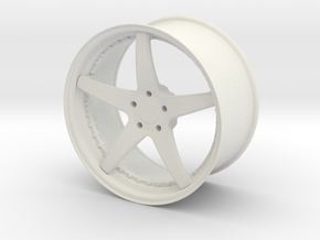 Forged Three Piece Wheel - Five Spoke in White Natural Versatile Plastic