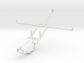 Controller mount for Xbox One & Icemobile G3 in White Natural Versatile Plastic