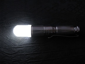 14mm Flashlight Diffuser (Dome Top) in Smooth Fine Detail Plastic