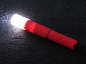 Diffuser for AAA Torch 1 (Flashlight) in Smooth Fine Detail Plastic