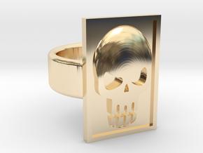 Phantom Skull Ring in 14k Gold Plated Brass