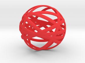 Orbits in Red Processed Versatile Plastic