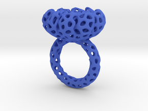 CORAL#02 ring in Blue Processed Versatile Plastic: 7 / 54