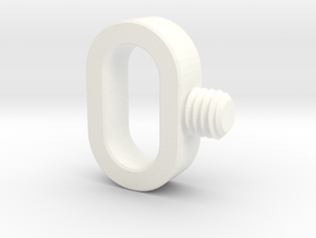 OP-1 Strap screw in White Processed Versatile Plastic