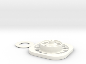 Assembly Jig to assist Wire Wheel Assembly in White Processed Versatile Plastic