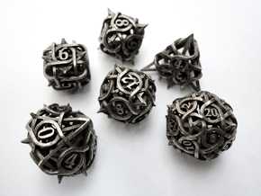 Thorn Dice Set in Stainless Steel
