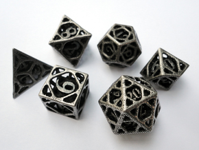 Cage Dice Set in Stainless Steel