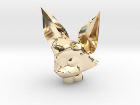 Fidgit Keychain in 14k Gold Plated Brass