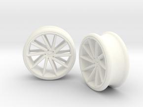 Set Of Vossen CVT Gauge EarRings 20mm InnerD in White Processed Versatile Plastic