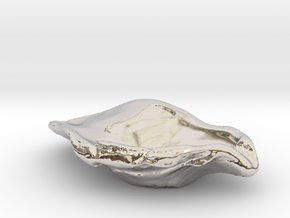 Oyster Jewelry Dish in Platinum