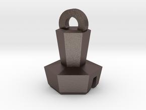 Platinum Bolt Keychain in Polished Bronzed Silver Steel