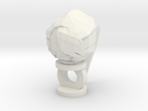 Shygirl Keychain in White Natural Versatile Plastic