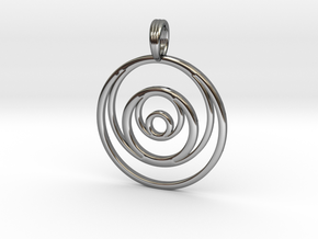 RINGS AROUND THE MOON in Fine Detail Polished Silver