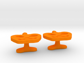 Pumpkin Cufflink in Orange Processed Versatile Plastic