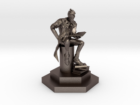 Handsome Jack the Wise Hero. in Polished Bronzed Silver Steel