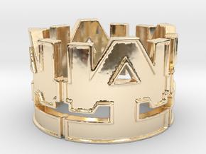 WAI Symbol Ring Size 10 in 14K Yellow Gold