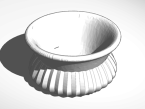 egg cup patterned base in White Natural Versatile Plastic